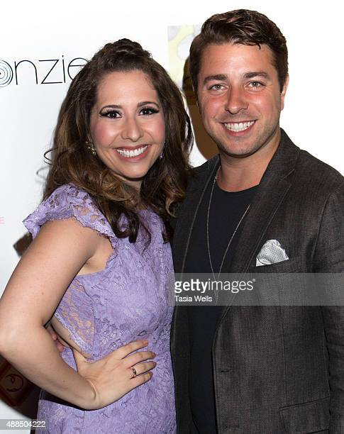 Actress/Liv Out Loud creator Ashley Gianni and actor Alex David pose for portrait at Premiere Party For 'Liv Out Loud' at Akbar on September 14 2015...
