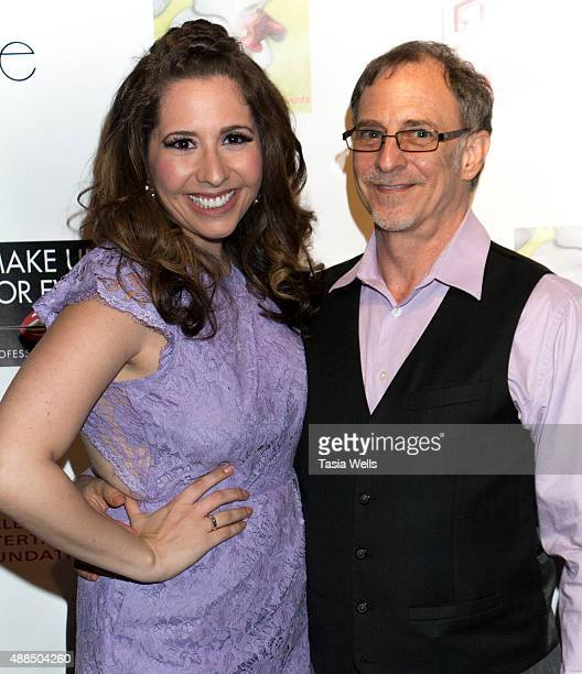 Actress/Liv Out Loud creator Ashley Gianni and actor Gary Klavans pose for portrait at Premiere Party For 'Liv Out Loud' at Akbar on September 14...