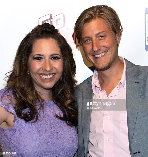 Actress/Liv Out Loud creator Ashley Gianni and actor Scott Turner Schofield pose for portrait at Premiere Party For 'Liv Out Loud' at Akbar on...