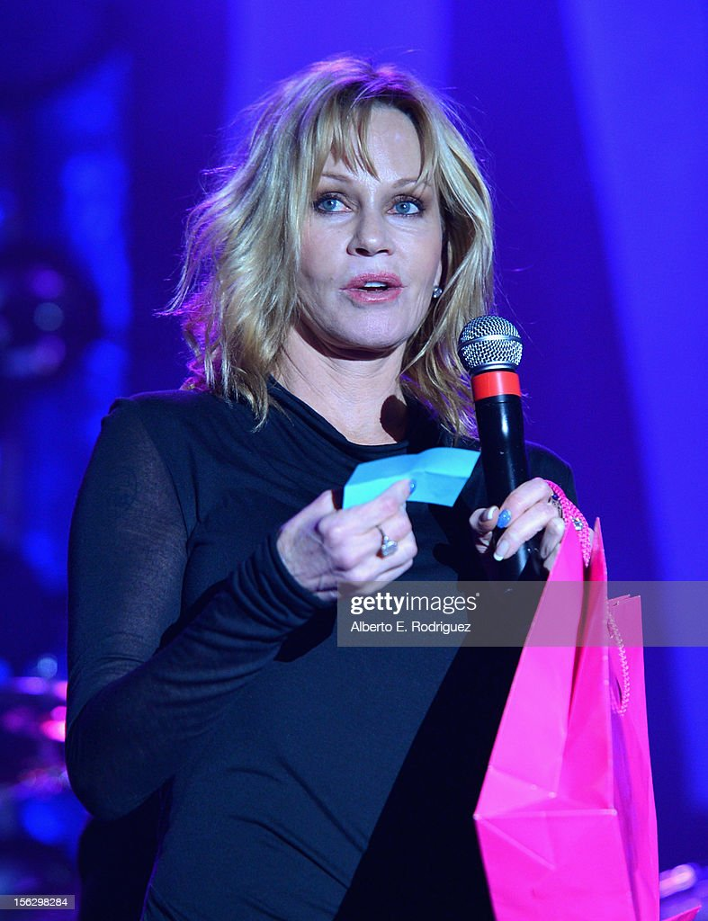 Actress<a gi-track='captionPersonalityLinkClicked' href=/galleries/search?phrase=Melanie+Griffith&family=editorial&specificpeople=171682 ng-click='$event.stopPropagation()'>Melanie Griffith</a> attends the St. John's Health Center's Power Of Pink benefiting The Margie Petersen Breast Center at Sony Studios on November 12, 2012 in Los Angeles, California.