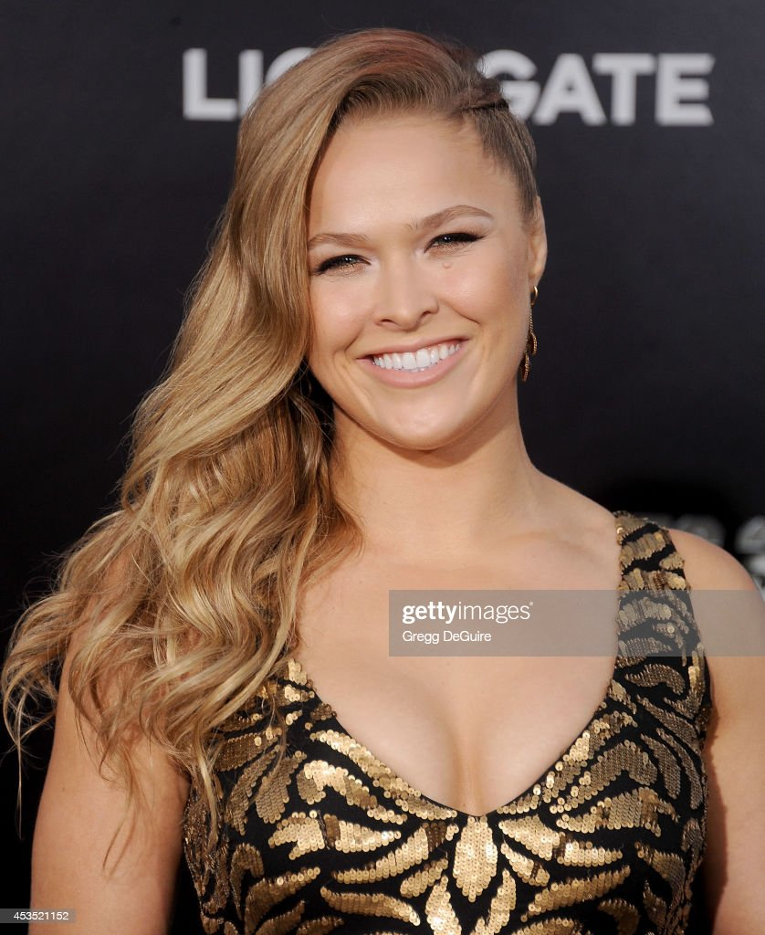 Actress/MMA fighter Ronda Rousey arrives at the Los Angeles premiere of 'The Expendables 3' at TCL Chinese Theatre on August 11, 2014 in Hollywood, California.