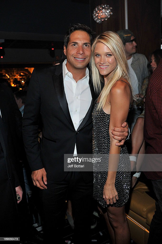 Actress/model Abbey Wilson (R) and 'Girls Gone Wild' founder <a gi-track='captionPersonalityLinkClicked' href=/galleries/search?phrase=Joe+Francis&family=editorial&specificpeople=544470 ng-click='$event.stopPropagation()'>Joe Francis</a> celebrate Scott Disick's 30th birthday at Hyde Bellagio at the Bellagio over Memorial Day weekend on May 26, 2013 in Las Vegas, Nevada.