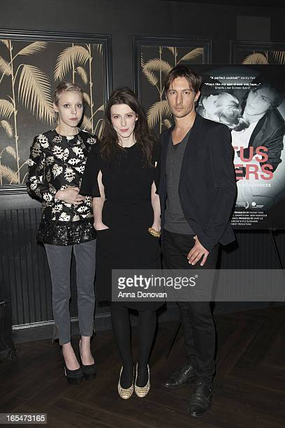Actress/model Antonia CampbellHughes Director Alexandra McGuinness and actor Benn Northover attend 'Lotus Eaters' New York Premiere at No 8 on April...