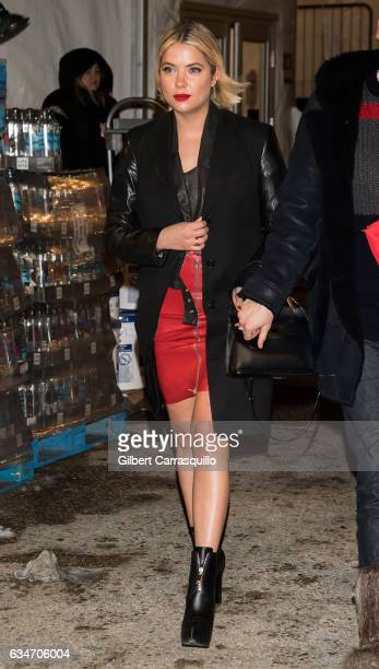 Actress/model Ashley Benson is seen leaving the Jeremy Scott collection during New York Fashion Week The Shows at Gallery 1 Skylight Clarkson Sq on...