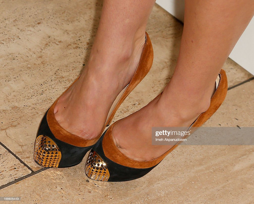 Actress/model Ashley Hinshaw (shoe detail) attends the screening of A24 Films' 'Ginger & Rosa' at The Paley Center for Media on November 8, 2012 in Beverly Hills, California.