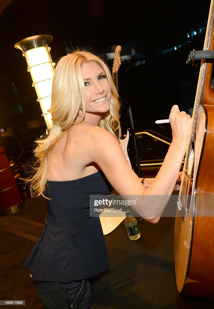 Actress/model Brande Roderick poses backstage at the GRAMMYs Dial Global Radio Remotes during The 55th Annual GRAMMY Awards at the STAPLES Center on February 7, 2013 in Los Angeles, California.