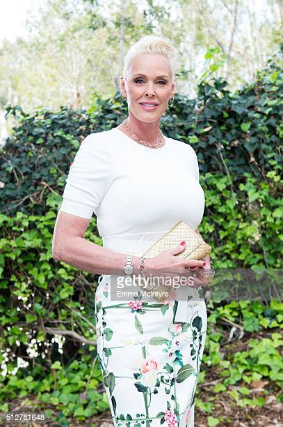 Actress/model Brigitte Nielsen attends the German Oscar nominees reception at the Villa Aurora on February 27 2016 in Pacific Palisades California