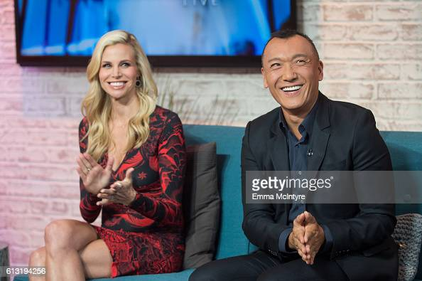 Actress/model Brook Burns and fashion editor Joe Zee attend 'Kevin Pollak and Brook Burns visit Hollywood Today Live' at W Hollywood on October 7...