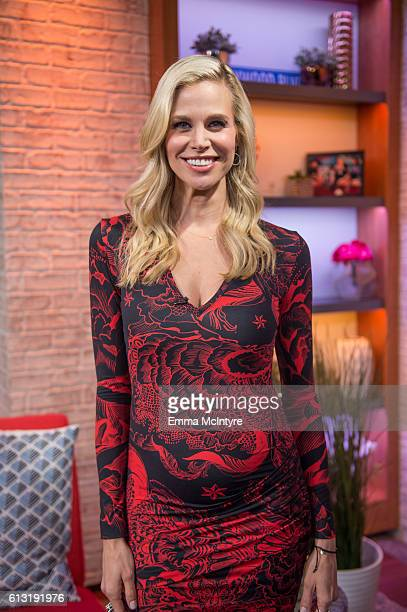 Actress/model Brook Burns attends 'Kevin Pollak and Brook Burns visit Hollywood Today Live' at W Hollywood on October 7 2016 in Hollywood California
