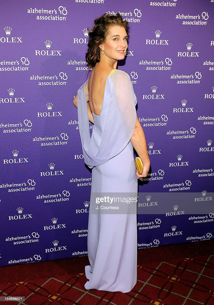 Actress/model Brooke Shields attends the 2012 Alzheimer Association Rita Hayworth Gala at The Waldorf Astoria on October 23, 2012 in New York City.