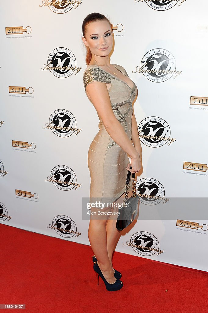 Actress/model Caitlin O'Connor attends the Battaglia's 50th Anniversary of Quality & Elegance Celebration on November 14, 2013 in Beverly Hills, California.