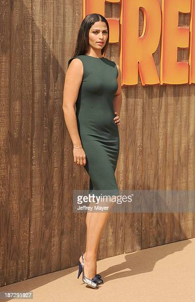 Actress/model Camila Alves arrives at the 'Free Birds' Los Angeles Premiere at Westwood Village Theatre on October 13 2013 in Westwood California