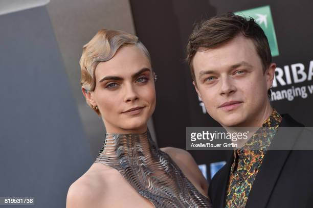 Actress/model Cara Delevingne and actor Dane DeHaan arrive at the Los Angeles premiere of 'Valerian and the City of a Thousand Planets' at TCL...
