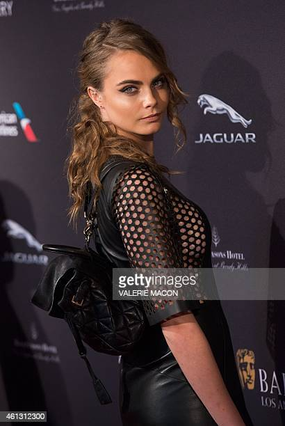 Actress/model Cara Delevingne arrives at the 2015 BAFTA Tea Party hosted by the British Academy of Film and Television Arts Los Angeles in Beverly...