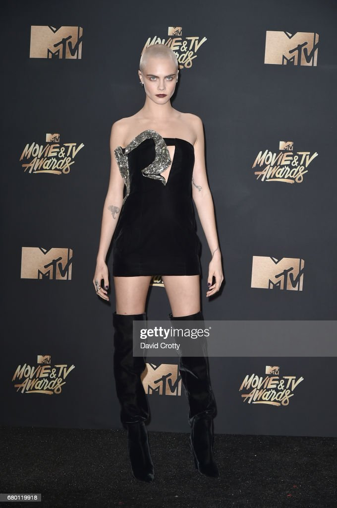 Actress-model Cara Delevingne attends the 2017 MTV Movie And TV Awards at The Shrine Auditorium on May 7, 2017 in Los Angeles, California.