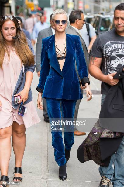 Actress/Model Cara Delevingne is seen in Midtown on July 20 2017 in New York City