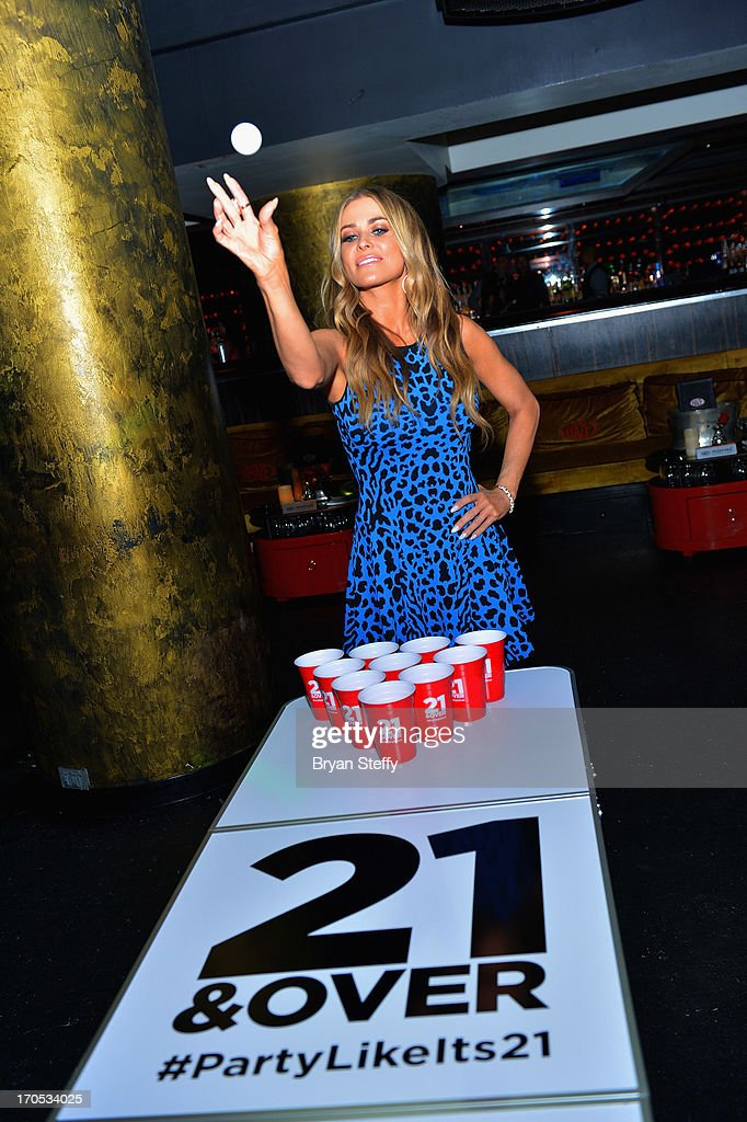 Actress/model <a gi-track='captionPersonalityLinkClicked' href=/galleries/search?phrase=Carmen+Electra&family=editorial&specificpeople=171242 ng-click='$event.stopPropagation()'>Carmen Electra</a> appears during the Blu-ray & DVD release of the movie '21 & Over' at Haze Nightclub at the Aria Resort & Casino at City Center on June 13, 2013 in Las Vegas, Nevada.