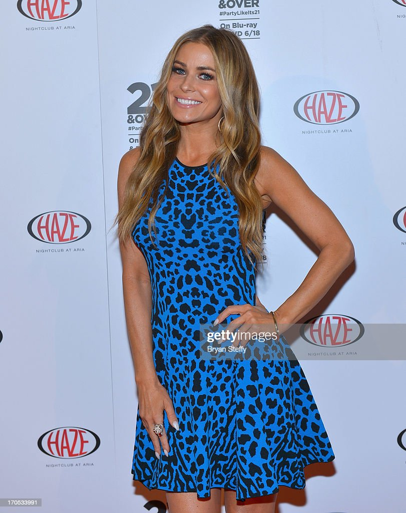 Actress/model Carmen Electra arrives at Haze Nightclub at the Aria Resort & Casino at City Center to celebrate the Blu-ray & DVD release of the movie '21 & Over' on June 13, 2013 in Las Vegas, Nevada.