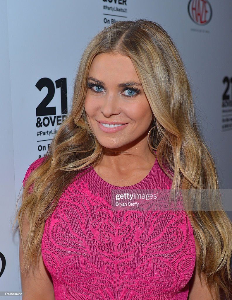Actress/model <a gi-track='captionPersonalityLinkClicked' href=/galleries/search?phrase=Carmen+Electra&family=editorial&specificpeople=171242 ng-click='$event.stopPropagation()'>Carmen Electra</a> arrives at Haze Nightclub at the Aria Resort & Casino at City Center to celebrate the Blu-ray & DVD release of the movie '21 & Over' on June 13, 2013 in Las Vegas, Nevada.