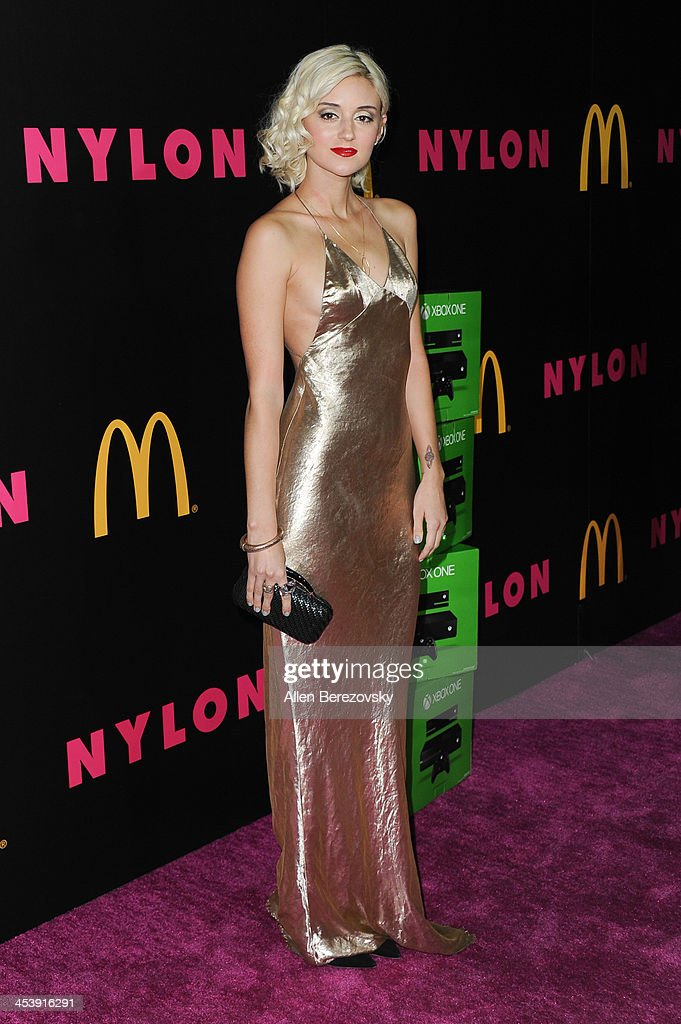 Actress/model <a gi-track='captionPersonalityLinkClicked' href=/galleries/search?phrase=Caroline+D%27Amore&family=editorial&specificpeople=210529 ng-click='$event.stopPropagation()'>Caroline D'Amore</a> attends NYLON Magazine's December Issue Celebration featuring cover star Demi Lovato at Smashbox West Hollywood on December 5, 2013 in West Hollywood, California.
