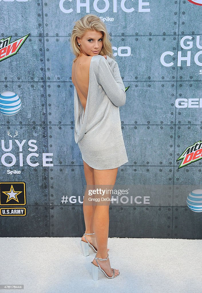 Actress/model Charlotte McKinney arrives at Spike TV's 'Guys Choice 2015' at Sony Pictures Studios on June 6 2015 in Culver City California