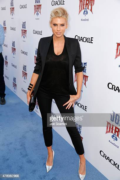 Actress/model Charlotte McKinney attends the world premiere of Crackle's Joe Dirt 2 Beautiful Loser at Sony Pictures Studios on Wednesday June 24...