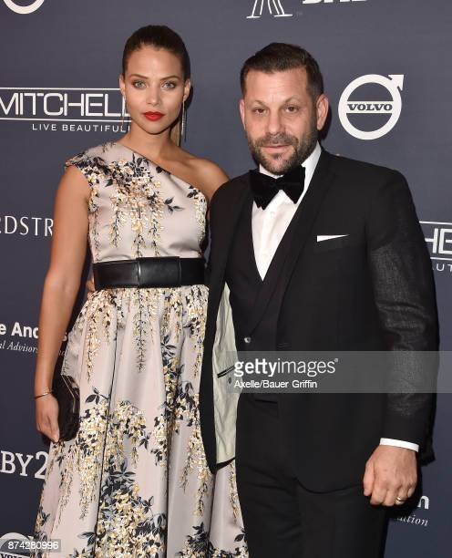 Actress/model Denise Vasi and director Anthony Mandler attend the 2017 Baby2Baby Gala at 3LABS on November 11 2017 in Culver City California