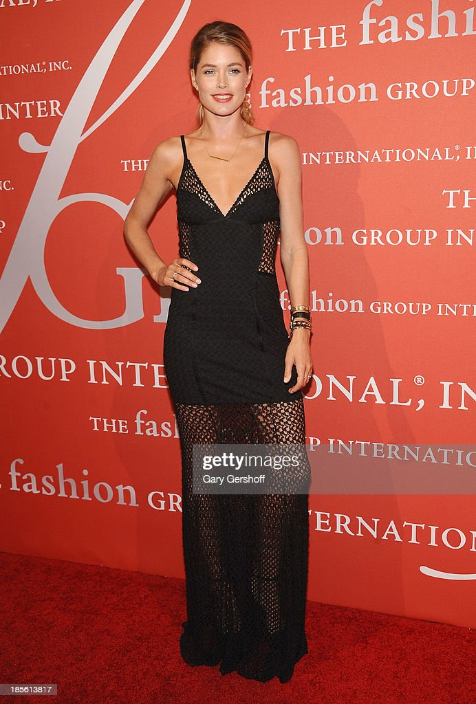 Actress/model <a gi-track='captionPersonalityLinkClicked' href=/galleries/search?phrase=Doutzen+Kroes&family=editorial&specificpeople=859655 ng-click='$event.stopPropagation()'>Doutzen Kroes</a> attends the 30th Annual Night Of Stars presented by The Fashion Group International at Cipriani Wall Street on October 22, 2013 in New York City.