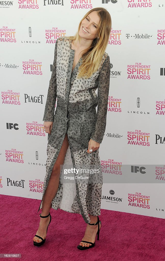 Actress/model Dree Hemingway arrives at the 2013 Film Independent Spirit Awards at Santa Monica Beach on February 23, 2013 in Santa Monica, California.