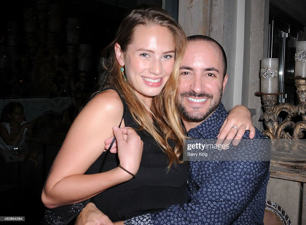 Actress/model <a gi-track='captionPersonalityLinkClicked' href=/galleries/search?phrase=Dylan+Penn&family=editorial&specificpeople=4437761 ng-click='$event.stopPropagation()'>Dylan Penn</a> (L) and agent David Todd attend the DT Model Management 2 Year Anniversary Celebration on July 24, 2014 at Pump in West Hollywood, California.