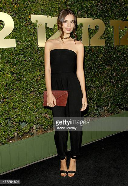 Actress/Model Emily Ratajkowsk attends the E3 Kickoff party hosted by TakeTwo Interactive CEO Strauss Zelnick on June 15 2015 in West Hollywood...