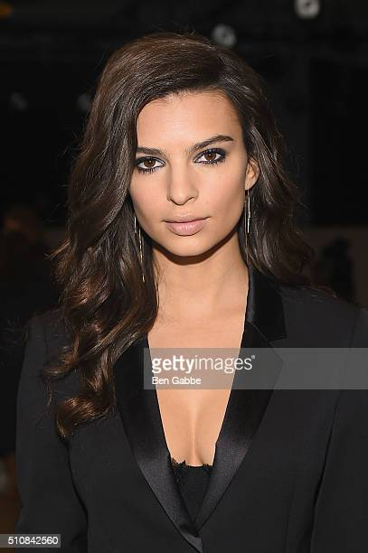 Actress/model Emily Ratajkowski attends the Boss Womenswear Fall 2016 fashion show during New York Fashion Week The Shows on February 17 2016 in New...