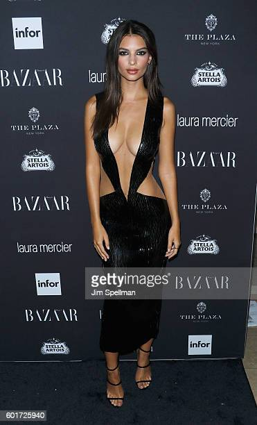 Actress/model Emily Ratajkowski attends the Harper's BAZAAR celebrates 'ICONS By Carine Roitfeld' at The Plaza Hotel on September 9 2016 in New York...