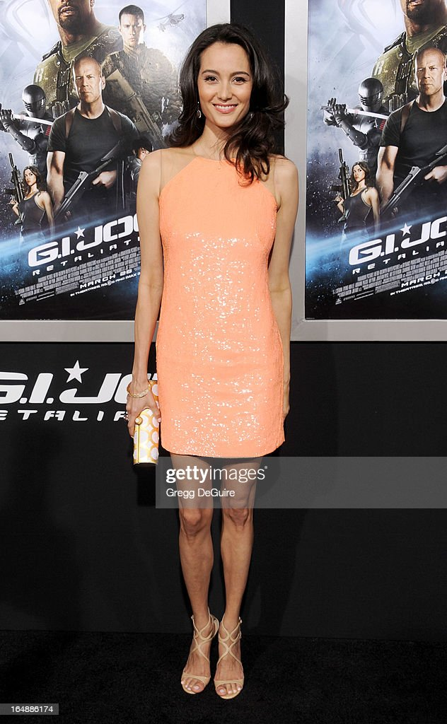 Actress/model Emma Heming Willis arrives at the 'G.I. Joe: Retaliation' Los Angeles premiere at TCL Chinese Theatre on March 28, 2013 in Hollywood, California.