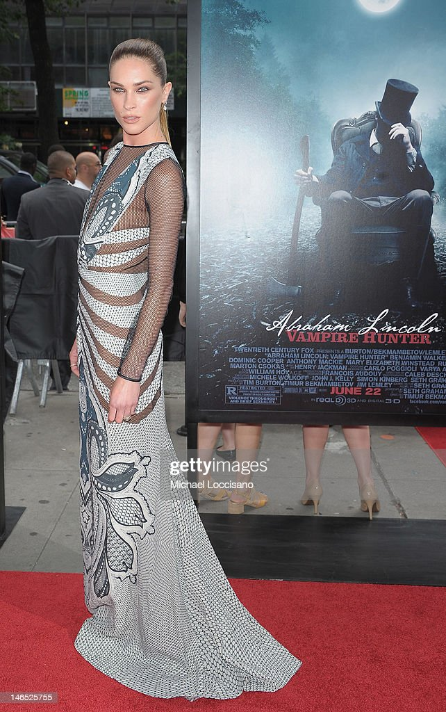 Actress/Model Erin Wasson attends the 'Abraham Lincoln: Vampire Slayer 3D' New York Premiere at AMC Loews Lincoln Square 13 theater on June 18, 2012 in New York City.