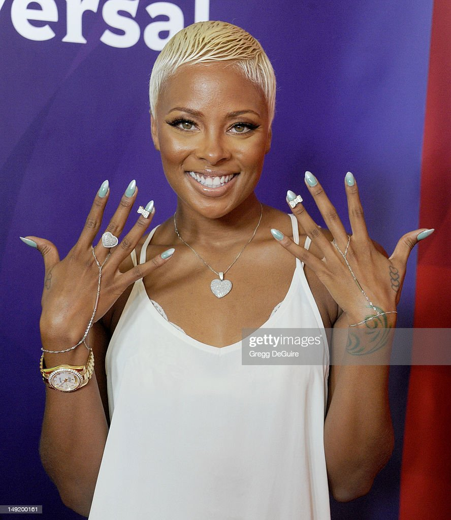 Actress/model Eva Marcille arrives at the 2012 NBC Universal TCA summer press tour at The Beverly Hilton Hotel on July 24, 2012 in Beverly Hills, California.