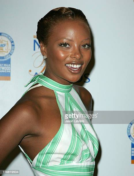 Actressmodel Eva Marcille at The 18th Annual NAACP Theatre Awards Press Conference at the Reniassance Hotel on May 20 2008 in Hollywood California