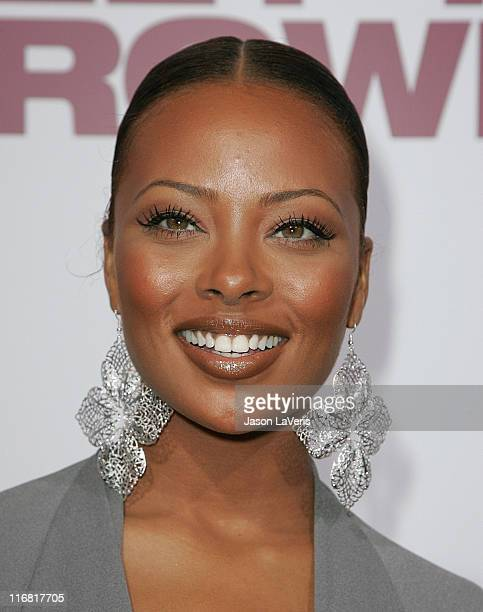Actressmodel Eva Marcille attends the World Premiere of Tyler Perry's 'Meet the Browns' at the Arclight on March 13 2008 In Hollywood California
