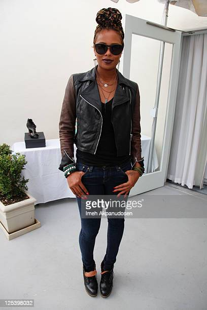 Actress/model Eva Marcille Pigford attends the Nathalie Dubois PreEmmy Gift Suite at Luxe Hotel on September 16 2011 in Beverly Hills California