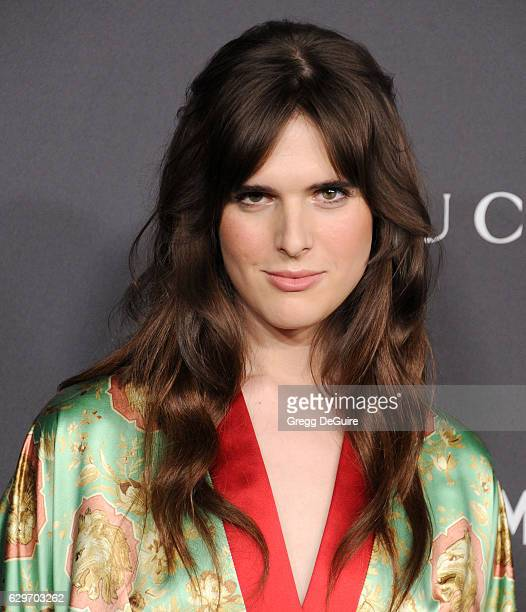 Actress/model Hari Nef wearing Gucci arrives at the 2016 LACMA Art Film Gala Honoring Robert Irwin And Kathryn Bigelow Presented By Gucci at LACMA on...