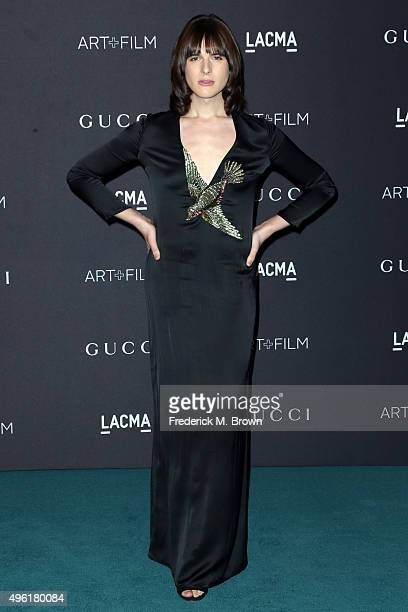Actress/Model Hari Nef wearing Gucci attends LACMA 2015 ArtFilm Gala Honoring James Turrell and Alejandro G Iñárritu Presented by Gucci at LACMA on...