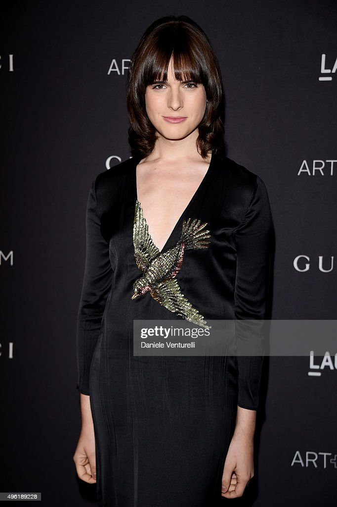 Actress/Model Hari Nef, wearing Gucci, attends LACMA 2015 Art+Film Gala Honoring James Turrell and Alejandro G Iñárritu, Presented by Gucci at LACMA on November 7, 2015 in Los Angeles, California.