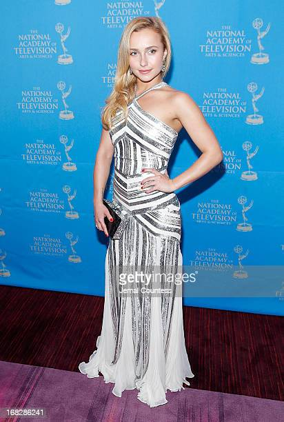 Actress/model Hayden Panettiere attends the 34th Annual Sports Emmy Awards Reception at Frederick P Rose Hall Jazz at Lincoln Center on May 7 2013 in...