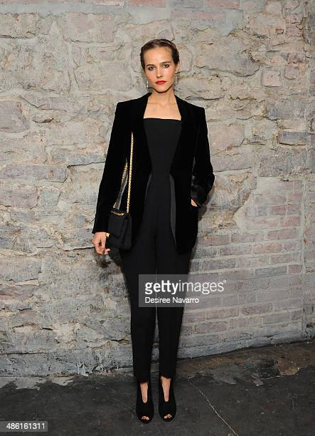 Actress/Model Isabel Lucas attends the 'Electric Slide' Premiere during the 2014 Tribeca Film Festival at Chelsea Bow Tie Cinemas on April 22 2014 in...