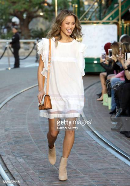 Actress/Model Jamie Chung attends designer Rebecca Minkoff's Spring 2017 'See Now Buy Now' Fashion Show at The Grove on February 4 2017 in Los...