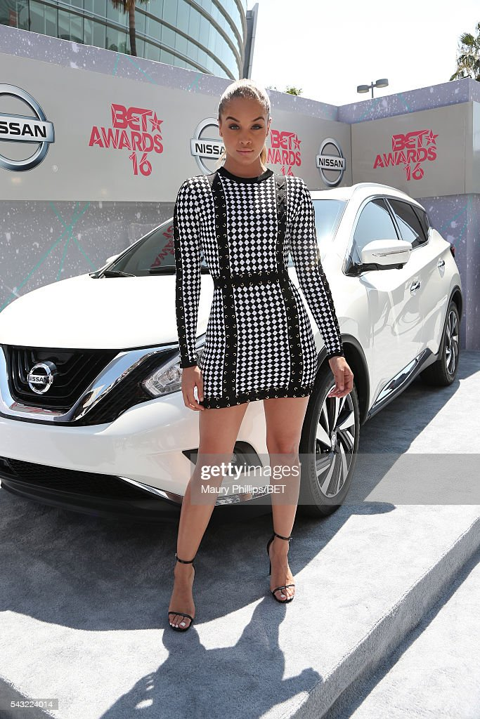 Actress/Model Jasmine Sanders attends the Nissan red carpet during the 2016 BET Awards at the Microsoft Theater on June 26, 2016 in Los Angeles, California.