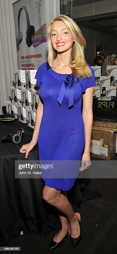 Actress/model Joell Posey attends the Flips Audio MTV Awards Secret Room gifting suite at the SLS Hotel on April 12, 2013 in Beverly Hills, California.