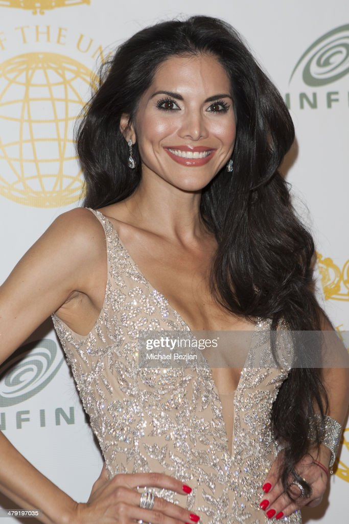 Actress/Model <a gi-track='captionPersonalityLinkClicked' href=/galleries/search?phrase=Joyce+Giraud&family=editorial&specificpeople=841715 ng-click='$event.stopPropagation()'>Joyce Giraud</a> attends Queen Of The Universe International Beauty Pageant at Saban Theatre on March 16, 2014 in Beverly Hills, California.