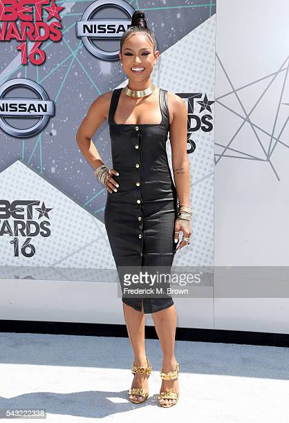 Actress/model Karrueche Tran attends the 2016 BET Awards at the Microsoft Theater on June 26 2016 in Los Angeles California