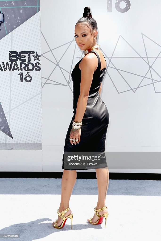 Actress/model <a gi-track='captionPersonalityLinkClicked' href=/galleries/search?phrase=Karrueche+Tran&family=editorial&specificpeople=9447374 ng-click='$event.stopPropagation()'>Karrueche Tran</a> attends the 2016 BET Awards at the Microsoft Theater on June 26, 2016 in Los Angeles, California.